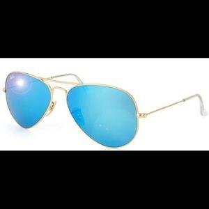 Rayban blue shade aviators- large size